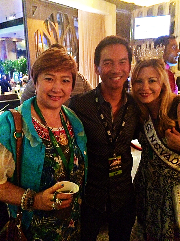 Randy Char with JJ Liu and Ms. Nevada