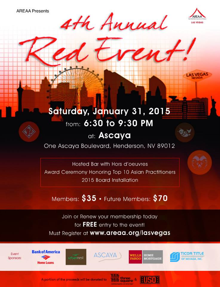 AREAA 4th Annual Red Event - Flier